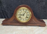 Walnut Waltham Regulator 31 Day Chime Mantle Clock Working Modified