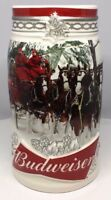 2017 Budweiser Holiday Stein Christmas Beer Mug Annual series Holiday Retreat