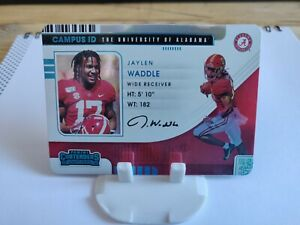 Jaylen Waddle Campus ID Card - Contenders Draft Pick - Case Hit - Miami Dolphin