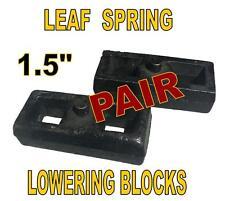 """1.5 Inch Leaf Spring Lift or Lowering Blocks 1-1/2"""" (PAIR) Heavy Duty Steel"""