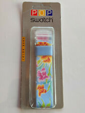 SWATCH Strap x POP MIDI FLEURS D'ETE  PMK112 - 1996 - new - CINTURINO - BAND