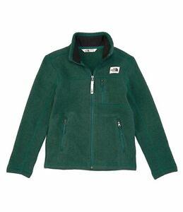 The North Face Gordon Lyons Full-Zip Boys Youth SZ L  jacket Night Green Heather