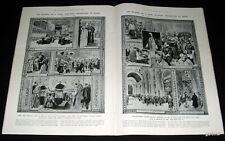 POPE PIUS X DEATH 1914 FUNERAL ARTWORK & WORLD WAR I BELGIUM & REFUGEE PICTORIAL