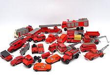 Divers 1/87 HO - Lot de 24 véhicules Pompiers Feuerwehr : Fiat Mercedes Magirus
