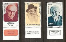 ISRAEL # 802-804 MNH FAMOUS ISRAELI PERSONALITIES. Historian, Writer, Rabbi.