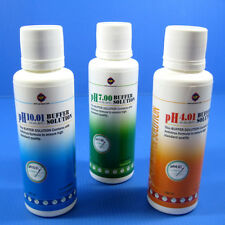 PH 4.01/7.0/10.01 Buffer Solution SET 150ml Calibration Fluids Aquarium Meter