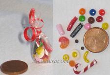Bolsa de chuches en fimo miniatura 1/12 casas muñecas