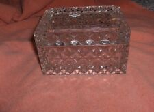 Vintage Cut Glass Bohemian Crystal 2-Pc Trinket Jewelry Box Signed