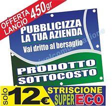 BANNER ECONOMICO 2X1 STRISCIONE PUBBLICITARIO PVC PERSONALIZZATO GR.350