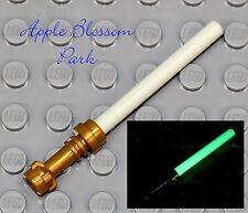 NEW Lego Glow in the Dark LIGHT SABER -Star Wars Jedi Minifig Weapon w/Gold Hilt