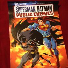 Superman Batman Public Enemies Animated Original Movie Poster DC Universe 2 X 3