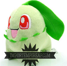 POKEMON CHIKORITA PELUCHE Germignon Endivie 152 plush doll blanco negro
