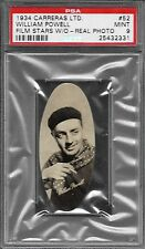 PSA 9 1934 CARRERAS LTD. FILM STARS W/O REAL PHOTO #52 WILLIAM POWELL