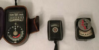 Lot Of 3 Exposure Meters, Weston Master 715, GE Mascot, DeJur-Amsco