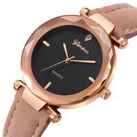 Geneva Women 's Fashion Leather Band Analog Quartz Diamond Wrist Watch Watches