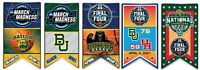 "BAYLOR BEARS FIVE PIN SET 2021 ""ROAD TO THE FINAL FOUR""  NCAA NATIONAL CHAMPIONS"