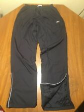 Men's Reebok Black Athletic Gym Workout Track Pants Polyester Small S