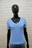 ADIDAS Maglia Celeste Donna Taglia S Slim Maglietta Manica Corta Shirt Woman