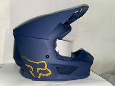 Fox Racing V1 MVRS Off-Road SxS MX Motocross Helmet Matte Navy Medium NO BOX