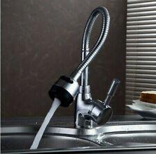 Kitchen Mixer Tap Faucet Single Lever Flexible Swivel spout 360` (42)