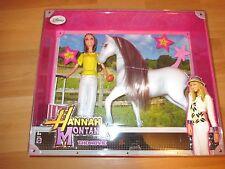 "Mattel Disney Hannah Montana Set ""Miley Stewart + Blue Jeans"" Puppe + Pferd!"