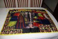 BANDERA DEL F.C BARCELONA COMO CAMPEON DE LIGA 2006 CON FOTOS JUGADORES  FLAG