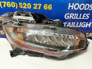 2016 17 18 19 HONDA CIVIC RIGHT PASSENGER FULL LED HEADLIGHT 33100-TEG-A11 *P647