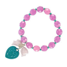 Tarina Tarantino Macaron Heart Charm Bracelet Purple & Teal *Made in California*