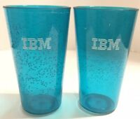 IBM Tall Plastic Drinking Water Cups Set Of 2