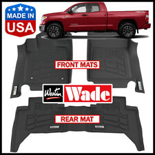 Westin Wade Sure-Fit Floor Mats fit 2012-2018 Toyota Tundra Double Cab BLACK
