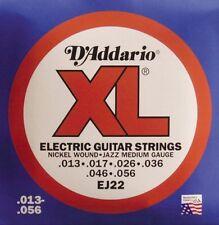 D'Addario Ej22 Nickel Wound Electric Guitar Strings, Jazz Medium, 13-56