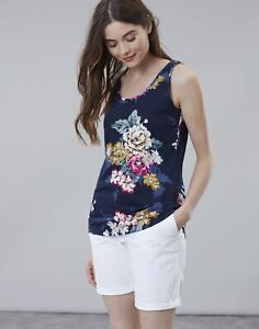 Joules Womens Bo Print Jersey Vest - Anniversary Floral - 8