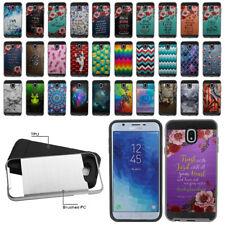"""For Samsung Galaxy J7 J737 2018 5.5"""" Shockproof Brushed Hybrid Cover Case"""