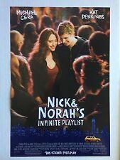 NICK & NORAH'S INFINITE PLAYLIST 11.5x17 MOVIE POSTER