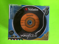 Vintage Verbatim Digital Vinyl CD-R -  10 Pack - 5 Colors - Free Shipping