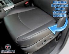 2009 2010 Dodge Ram 1500 Laramie - Driver Side Bottom Leather Seat Cover Dk Gray