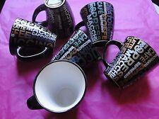LOT 6 TASSES CAFE CAPPUCCINO ESPRESSO LATTE MACCHIATO COFFE NEUVE ESPRIT BISTRO