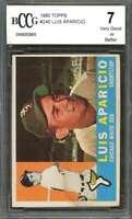 Luis Aparicio Card 1960 Topps #240 Chicago White Sox BGS BCCG 7