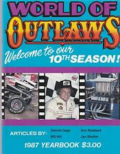 WORLD OF OUTLAWS 1987 YEARBOOK, INDIANA FAIRGROUNDS FLYER, AND TICKET STUB