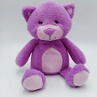 "Animal Adventure Cat Plush Purple Sewn Eyes Target Lovey 10"""