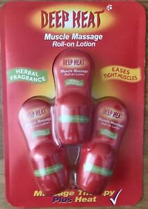 Deep Heat Roll-On 3 pack roll on lotion muscle massage