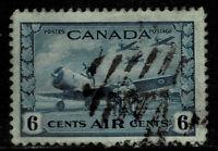 Canada #C7(4) 1942 6 cent R.C.A.F TRAINING PLANE USED CV$2.00