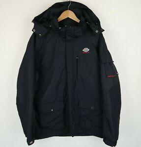Dickies Mens Hooded Coat Zip Jacket Black SZ XL (G806)