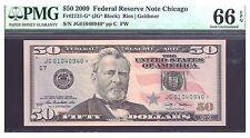 FR#2131-G* $50 2009 FEDERAL RESERVE CHICAGO STAR NOTE  PMG 66EPQ