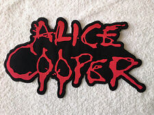 LARGE SEW / IRON ON ROCK MUSIC BACK-PATCH:- ALICE COOPER (a) BLOOD LETTERS