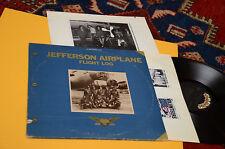 JEFFERSON AIRPLANE 2LP FLIGHT LOG ORIG USA 1977 EX GATEFOLD TEXTURED INNER BOOK