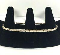 Vintage Sterling Silver Bracelet Anklet Twisted Chain Milor Italy Rope 11'' Long