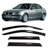 Sun Visors For BMW 3 E46 Sd 5d Windows Rain Deflectors Weather shields 1998-2005