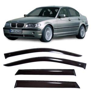 For BMW 3 (E46) Sd 1998-2005 Window Visors Side Sun Rain Guard Vent Deflectors