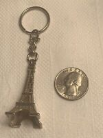 VINTAGE EIFFEL TOWER PARIS FRANCE SOUVENIR METAL KEYCHAIN